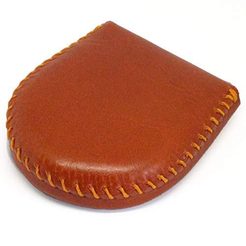 (東京下町工房)本革コインケース 小銭入れ 完全手作り 手縫い仕上げ コンパクト 使いやすさ抜群 (オレンジ)