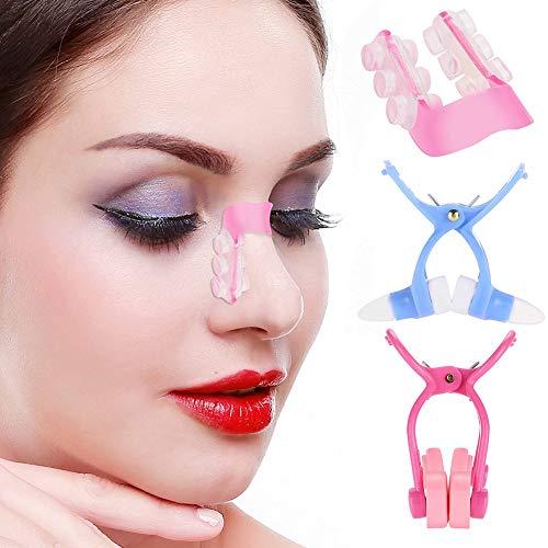 Nez Lift Up Shaping Clip, 3pcs Silicone Noser Shaper Kit Nez Shaper Masseur Clip Redressant Beauté Clip Nose Up Clip Correction Set