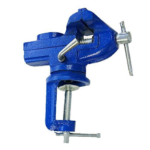 Merry Tools - Tornillo Mini con Base Giratoria y Yunque para Banco de Trabajo, HK 60 mm, 402322