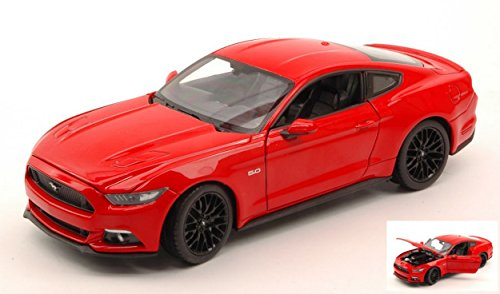 Welly WE24062R Ford Mustang GT 2015 Red 1:24 MODELLINO Die Cast Model Compatibile con