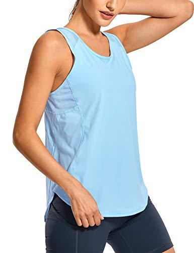 CRZ YOGA Donna Canotta Yoga Palestra Senza Maniche Fitness Sportivi con Mesh Fresco - R751 44