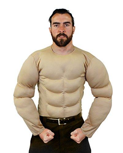 Brust Muskel KOSTÜM IN BEIGE UND 2 VERSCHIEDENEN GRÖßEN= VON ILOVEFANCYDRESS® = SUPER FÜR Jede SUPERHELDEN VERKLEIDUNG ODER Wrestler KOSTÜM= IN DER Farbe BEIGE & GRÖßE XLarge