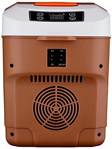 QHCS Refrigerador para automóvil Mini refrigerador, Refrigerador para automóvil 10L, Refrigerador portátil pequeño Congelador Compacto, Silencio, Mini refrigerador para automóvil Refrigerador par
