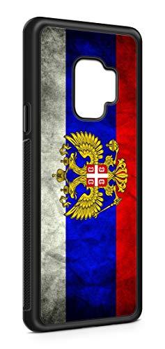 Kompatibel mit Samsung Galaxy A6 Plus 2018 Silikon Handyhülle Flexibles Slim Case Russland Fahne Flagge Schwarz