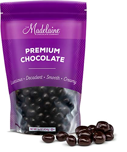 Premium Dark Chocolate Covered Espresso Coffee Beans - Bitter, Sweet, Smooth, Crunchy and Decadent. Gourmet Roasted Espresso Coffee Bean Center Covered In Premium Dark Chocolate (1 LB)