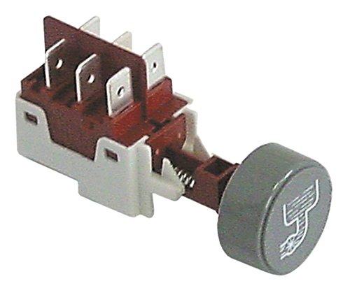 Elframo drukknop voor vaatwasser B11, BD22, BD13, BE50, BE35, BE40, BD50 grijs symbool afvoer 250 V 2CO 2-polig zonder frame