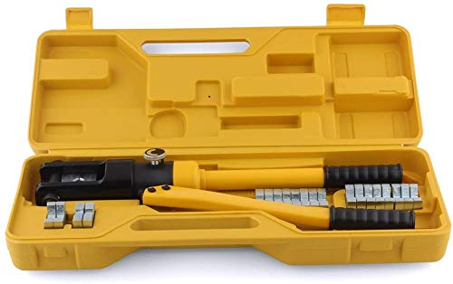 Homeway 16T - Crimpadora hidráulica – Tenazas: 10-300 mm². Terminal de cable. Pinzas 360 °, giratorio,crimpatura idraulica