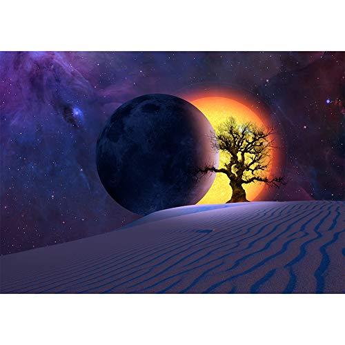 Kit de pintura de diamante 5D para decoración del hogar con diseño de eclipse del desierto