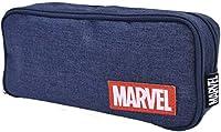 マーベル MARVEL 2ルーム ペンケース 筆箱 ポーチ 小物入れ S1421620 ネイビーブルー