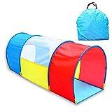 LANHA Giochi per Bambini Tunnel Tent Rainbow Pop Up Play Tunnel Tube per Bambini Giochi per Interni ed Esterni Avventura al Coperto Crawl Tube 130 X 55 X 48 cm