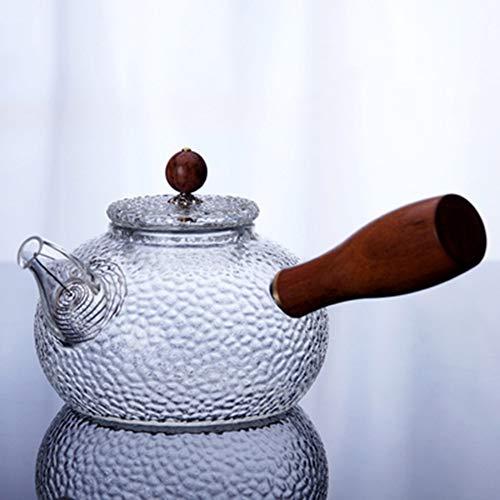 YUXIA Türkische Kaffeekanne, Wasserkocher Glas Teekanne Mit Seitengriff Kaffeekanne Boil Teekanne Büro Teekanne Tee-Ei