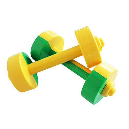Read About PANDA SUPERSTORE 2Pairs Plastic Hand Dumbbells Home Gym Morning Exercises Toys for Boys G...
