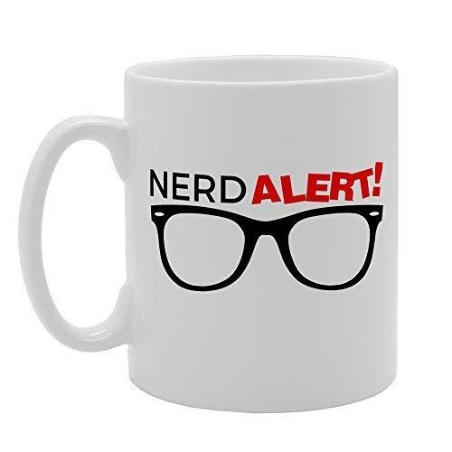 N\A Nerd Alert Funny Clear Gafas de Sol Novedad Regalo Cerámica Té Taza de café