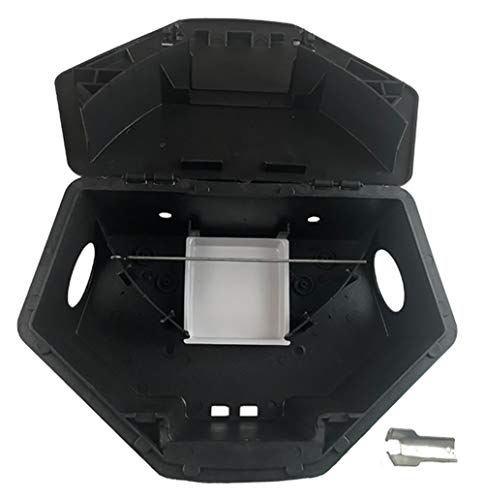 Rat Bait Stations by Eco Pro - Large Rat and Mouse Trap Alternative - Keep Your Pets and Children Safe - Pellet or Block Poison is Safely Placed Inside The Box Under Lock and Key - 2 Pack Heavy Duty
