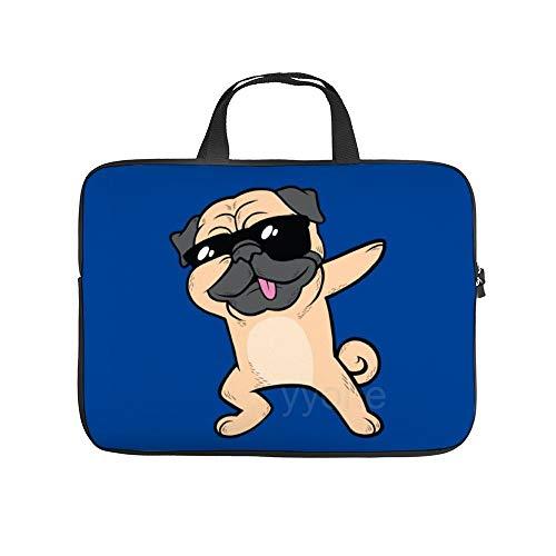 Protective Laptop Shoulder Bag for 2020 Cool Dabbing Pug Portable MacBook Laptop/Ultrabooks Case Bag Cover 15 Inch