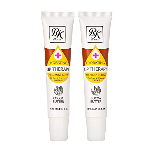 Ruby Kisses Hydrating Lip Therapy Treatment Gloss Cocoa Butter RLO03D1 (2 PACK)