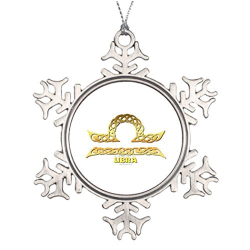 Cukudy Beste Vriend Sneeuwvlok Ornamenten Weegschaal Metalen Tuin Sneeuwvlok Ornamenten Keltische Astrocelt serie Weegschaal