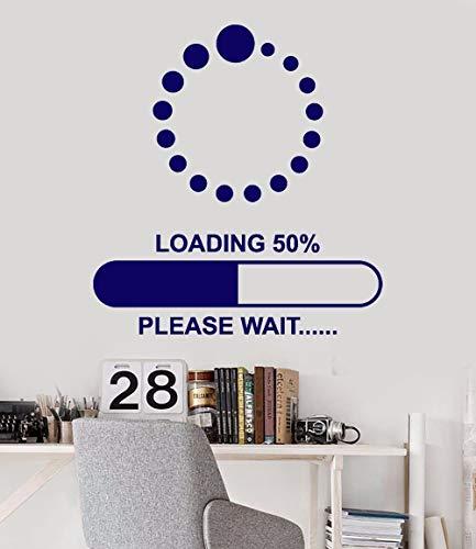 Punkt runde Wandkunst Aufkleber Spiel Spieler Laden Download Warten Wandtattoo Junge Schlafzimmer Dekoration entfernbare Vinyl Aufkleber 100x111cm