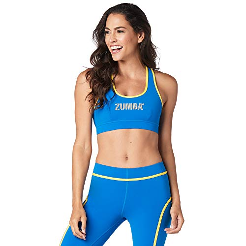 Zumba Athletic Dance Fitness High Impact Workout Active Sports Bra for Women