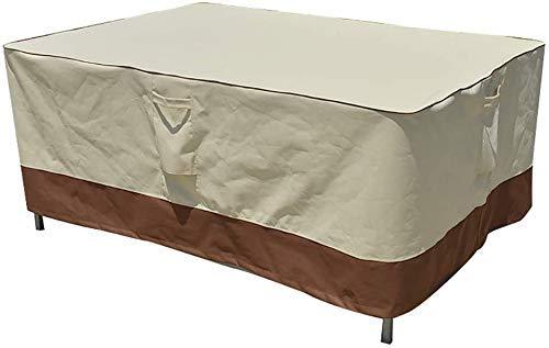 ZJZ Muebles de jardín Cubiertas Protección Muebles de jardín Recubrimiento Oxfor600pu Muebles de Patio Impermeable Rectangular A Prueba de Viento 128''x82''x23