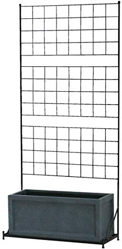 ガーデニング フェンス プランター 2点セット 目隠し プランター台付き ハイタイプ