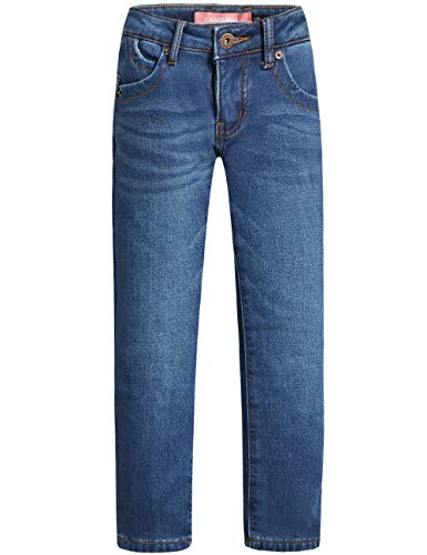 Camii Mia Big Girl's Winter Thermal Stretch Skinny Jean Fleece Lined Jeans Slim Fit Jeggings (X-Small, Medium Blue)
