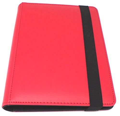 docsmagic.de Pro-Player Premium 4/8-Pocket Album Red - 160 Card Binder - MTG - PKM - YGO - Álbum para Tarjetas Roja