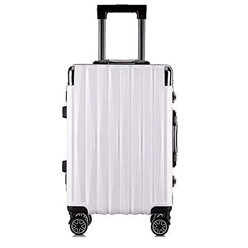 SFBBBO luggage suitcase aluminum rolling luggage spinner brand fashion travel suitcase on wheels 20' white