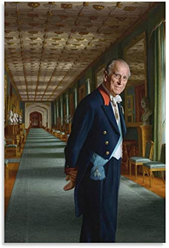 YUMKNOW Canvas Wall Art 23.6'x31.5' No Frame Prince Philip Oil Paintings Wall Photo Paint