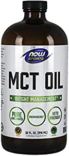 Now Sports Nutrition, MCT (Medium-Chain triglycerides) Oil 14 g, Weight Management, Liquid, (in Glass), 32-Ounce