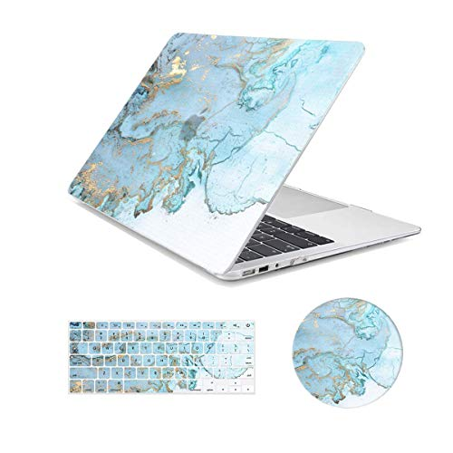 """Arike Macbook Air 13 inch Case, Marble Design Slim Plastic Hard Case with Keyboard Cover & Mouse Pad Compatible for MacBook Air 13"""" Old Version 2010-2017 (A1466 &A1369)"""