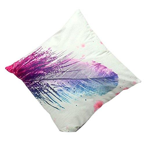 lookatool® 3D Blume Drucken Sofa Bett Kissenbezug Home Dekoration Festival, weiß, 45cm*45cm/17.7*17.7