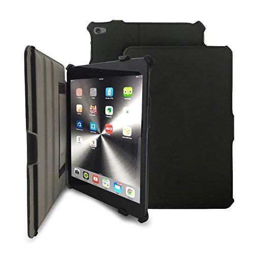 KHOMO Schutzhülle für Tablet iPad Mini 4 - Leder Schwarz