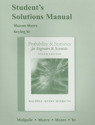 Student Solutions Manual for Probability and Statistics...
