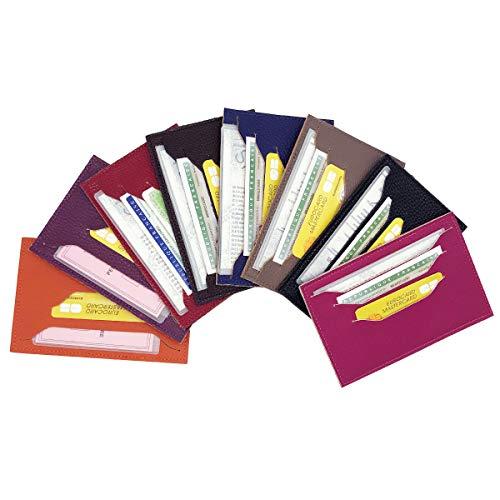 Charmoni Enzo - Busta apribile double face, porta carta d'identità, patente di guida, carta di credito, in pelle vacchetta, 10 x 15 cm