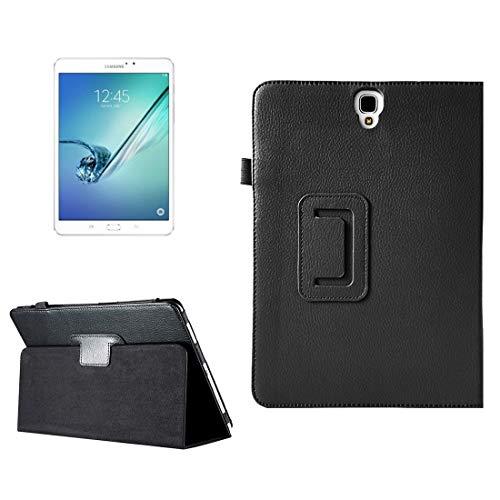 JIANGHONGYAN para Samsung Galaxy Tab S3 9.7 / T820 Funda de Cuero Litchi con Textura Horizontal con función Sleep & Wake-up y Soporte (Color : Black)
