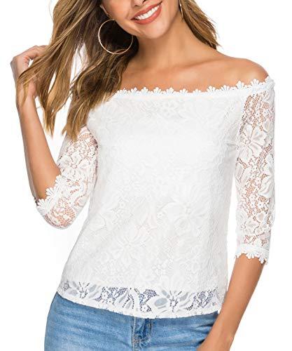 Pacrate Camiseta Mujer Verano Manga Corta Fuera Camisa