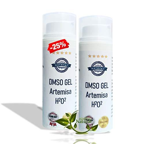 Leivys DMSO GEL 75 - Salbe + Beifuss Artemisia Auszug mit Dimethylsulfoxid 99,9%, bequeme Anwendung, effektive Wirkung 2x50ml