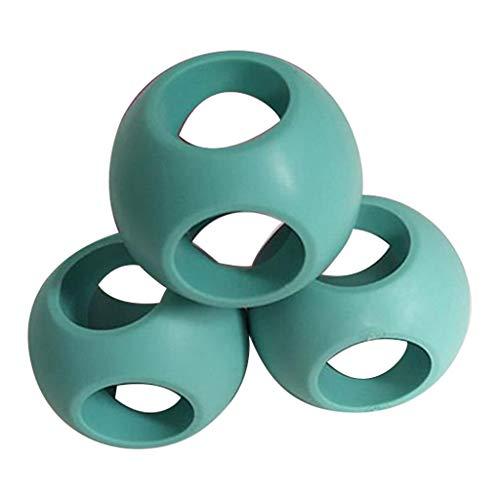 Luccase 3 Stücke Waschball Kit 6 cm Durchmesser TPR und Material Magnet Magnetischer Waschbälle für Waschmaschine oder Geschirrspüler