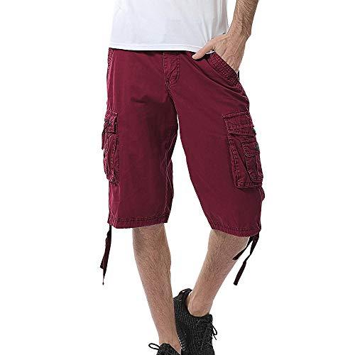 Beonzale Shorts Herren Für Sport Joggen und Training Shorts Fitness Mit Cargo Shorts Kurze Hose Bermuda mit Gürtel Short Hunter Sweatpants
