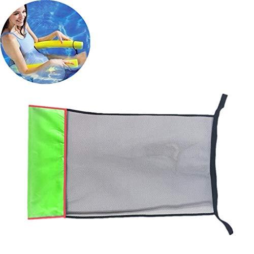 Muium(TM) 1Pc Schwimmstuhl Netz, schwimmender Stuhl Bett Schwimmbad Pool Pool-Nudel Netzstoff Schwimmender Sitz Schwimmnudeln Erwachsene Schwimmnudel Netz Schwimmstuhl Outdoor-Sport Schwimmen (Grün)