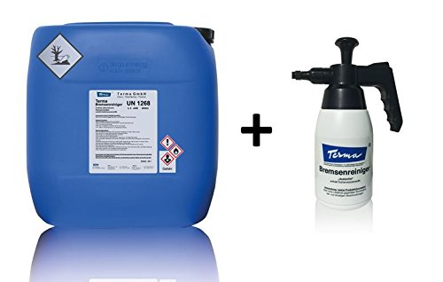 Terma Bremsenreiniger, Entfetter, Acetonfrei 5 Liter Kanne + Pumpsprüher