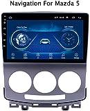 [page_title]-DUMXY 1 DIN Android Auto Navigation GPS Stéréo de Voiture Multimedia Player für Mazda 5 2005-2010 AM/FM/AUX/USB/Quad Core/Lien Miroir/Lenkradsteuerung,WiFi:1+16g