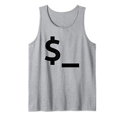 Shell / Perl-Standardvariable Coder & Sysadmin Design Tank Top