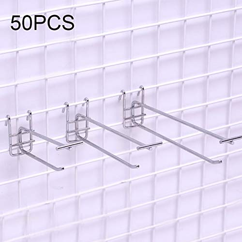 Buy Cheap 50PCS 5.0mm Supermarket Iron Grid Shelf Double Hook, Length: 10cm Easy to use