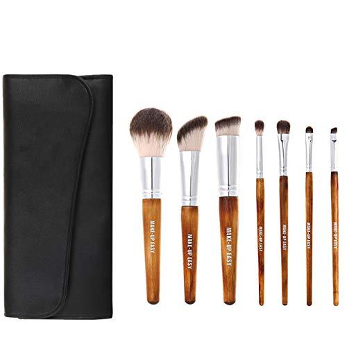 Pinceau de maquillage, Base de 7pcs Fard à paupières Eyeliner Foundation pinceaux de mélange pour Les Yeux, Le Visage et Les lèvres avec des soies Super Douces