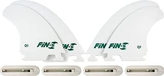 Fin-S Production Set Q-1 Quad White 4 Surfboard Fins/4 Boxes
