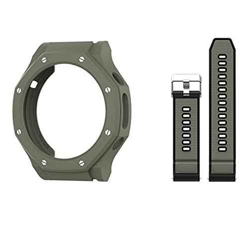 ZLRFCOK Funda para reloj huawei GT2 Pro Case Smart Watches Cover TPU Shell Protector Sport Accesorios (color : C, tamaño: Gt2pro-ecg)