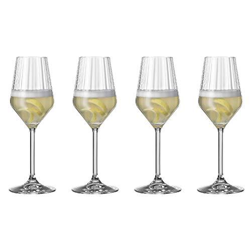 Spiegelau & Nachtmann, 4-teiliges Champagnerglas-Set, Kristallglas, 310 ml, Spiegelau LifeStyle, 4450177