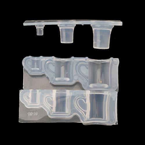 zhichy Molde de silicona para botella de leche real, molde de silicona de resina, para manualidades y joyas de resina